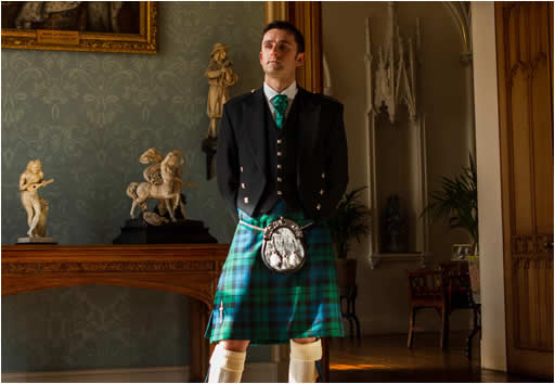 Kilt being modelled